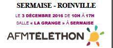 AFMTELETHON SERMAISE-ROINVILLE : le 3 décembre de 10h à 17h à la grange de Sermaise